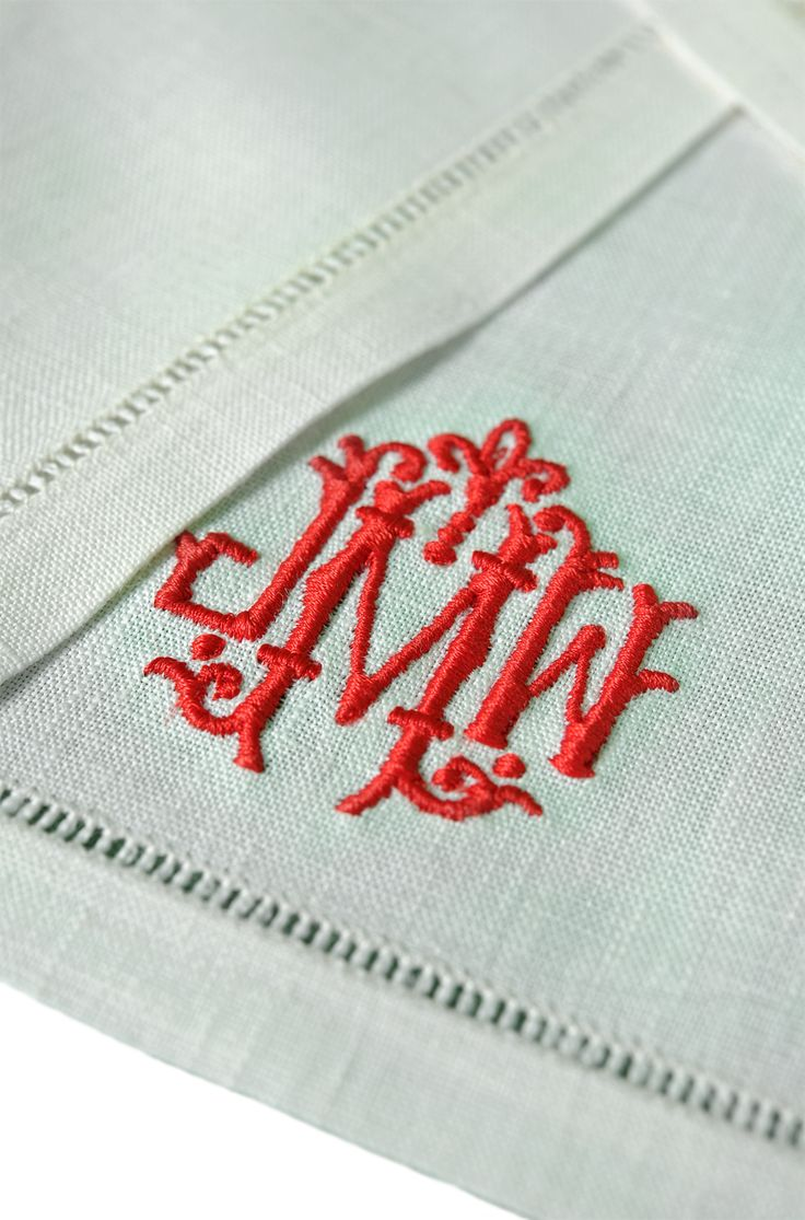 beautiful embroidered linen