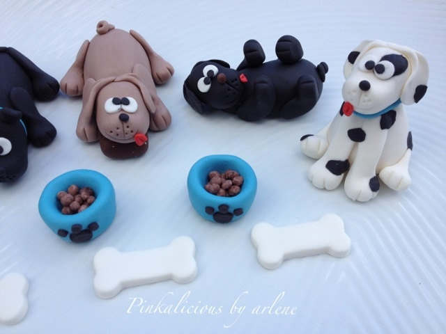 Edible Dog Cake Images : edible puppy dog cupcake cake toppers by sweetpinkbyarlene ...