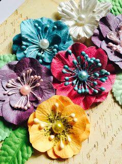 Воспоминания в бумаге.: Цветы для скрапбукинга своими руками.