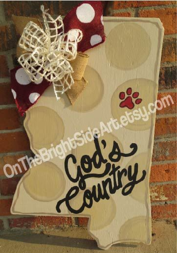 MISSISSIPPI Door Hanger State of by OnTheBrightSideArt on Etsy