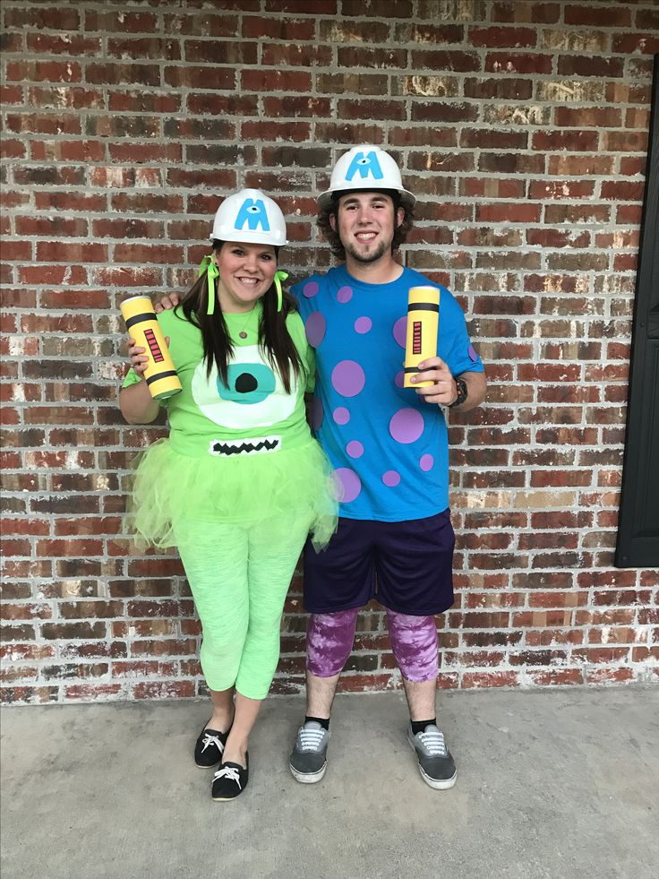Mike and Sully Halloween costume! diy monsters inc. halloween easy                                                                                                                                                                                 More