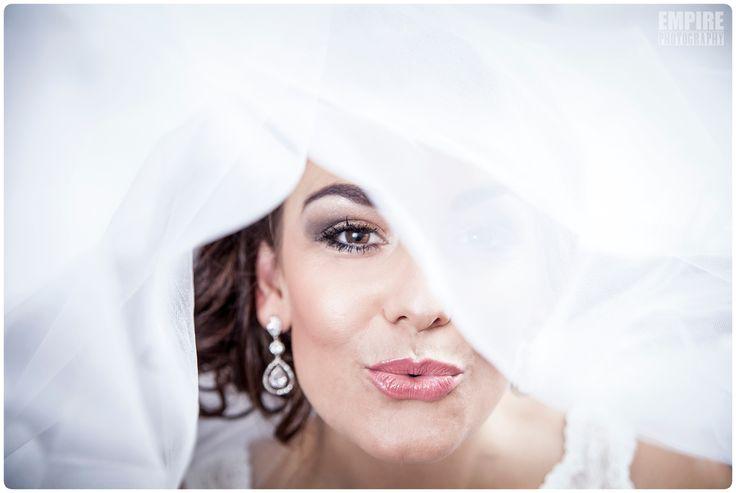 Bridal Portrait under the veil shot