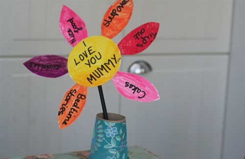 A Simple Mothers Day Craft For Children.