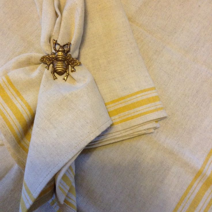 Tea towelling napkins. Thanks for the inspiration Laura Calder.