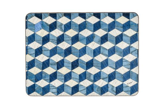 2 Placemats Modern Place mats Geometric placemats by EInderDesigns