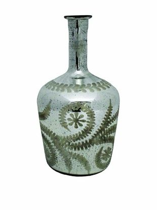 76% OFF The Import Collection Georgia Glass Vase, Silver