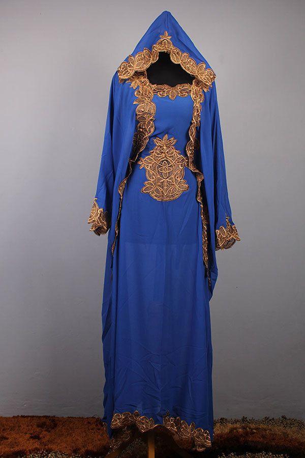 Moroccan Hoodie CAFTAN Blue Chiffon Abaya Maxi Dress Gold Embroidery Jalabiya #Handmade #MaxiDress #Christmasdress #Handmade #menskaftan #dress #clothing #caftan #moroccankaftan #cotton #islamicdress #shirt #embroideryshirt #tunic #wholeasle #embroidery #weddingdress #hoodiedress