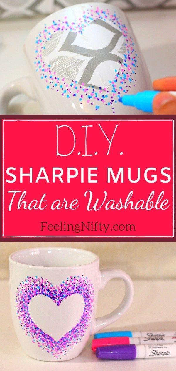 Diese Sharpie-Tassen sind ein einfaches Handwerk, …