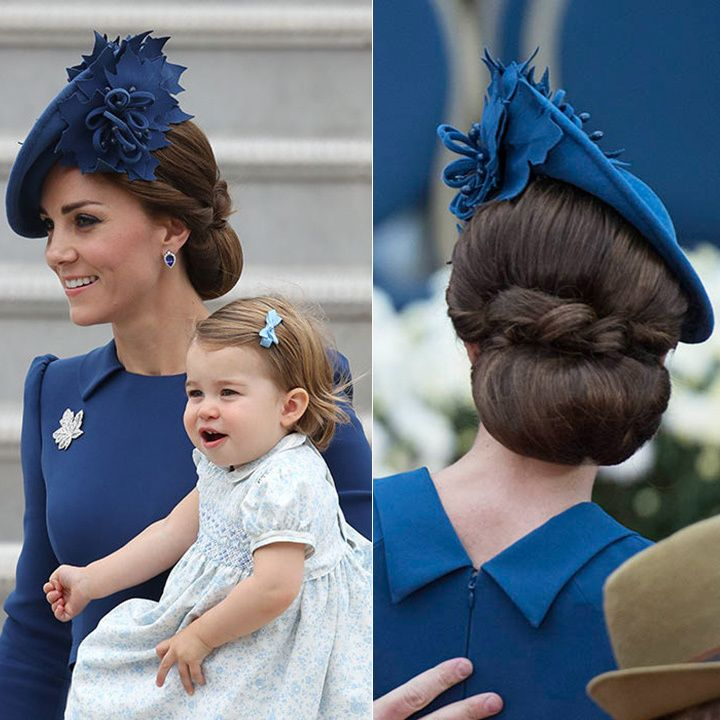 Kate made her debut in Canada sporting another elegant low bun. <br>Photo: © PA/Christopher Morrison/Hello Canada Magazine