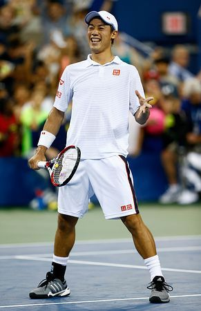 男子シングルス4回戦を勝って笑顔を見せる錦織圭(日清食品)=1日、ニューヨーク(AFP=時事) ▼3Sep2014時事通信|錦織、96年ぶりの快挙なるか=4強懸け、ワウリンカと対決-全米テニス http://www.jiji.com/jc/zc?k=201409/2014090300242