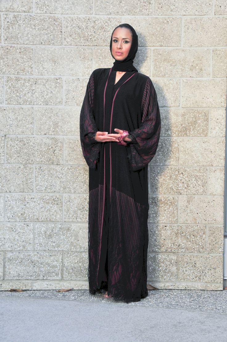 2016 Magenta Lace Abaya