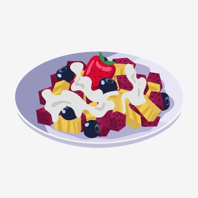 Food Fruit Salad Material Vector And Png