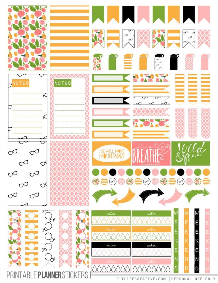 FREE Kate Spade Floral Planner Stickers by Fit Life Creative