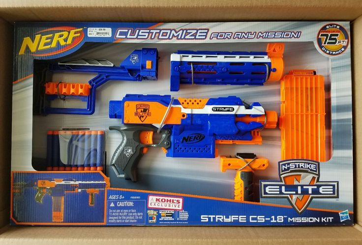 NERF Stryfe CS-18 Mission Kit with Extra Attachments Brand New Kohls Exclusive