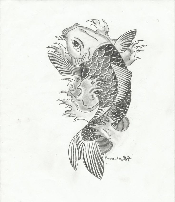 Asian Tattoos Illustrations: One Of My Favorite Koi Drawings