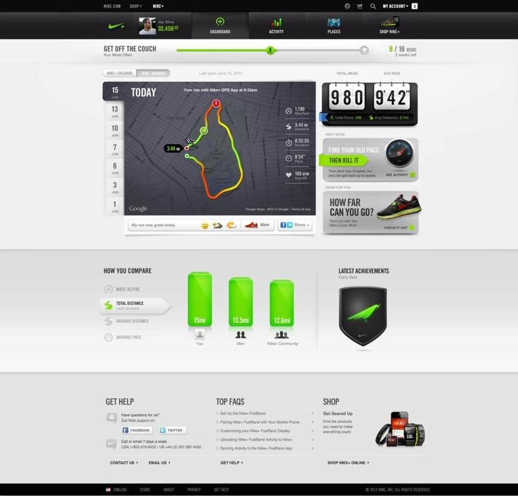 New Nike+ UI