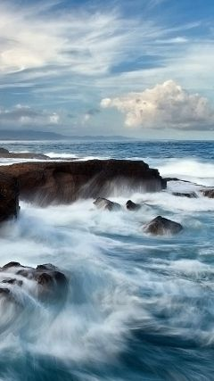 Hd Animated Sea Waves Iphone 6s Wallpaper Beach Pinterest S5