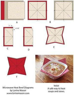 In the winter, the best way to warm up is with a yummy bowl of soup. Save yourself from burnt fingers and create Removable Sewn Bowls Covers. Beginner sewing projects like this one help you learn and grow as a designer.
