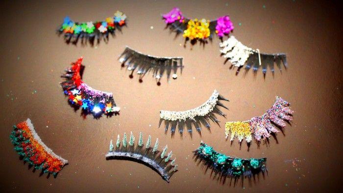 DIY, Cílios Postiços Decorados para o Carnaval! Strass, Glitter, Estrelas 5