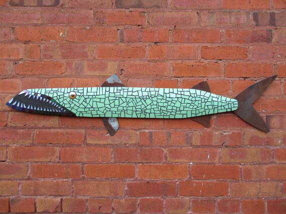 Mosaico vidrio manchadas Barracuda