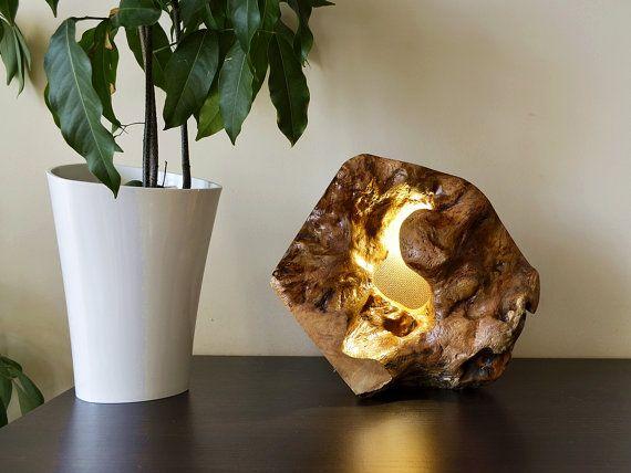 High Quality Handmade Lamp, Wood Lamp, Natural Wood Lamp, Cherry Wood, Night Lights ,