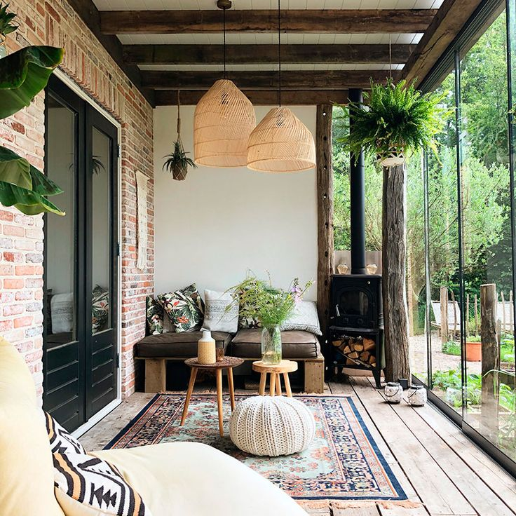 De estilo cottage y bohemio