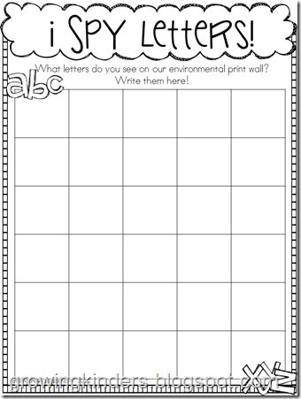 fun page to go with environmental print word wall - Fun Activities To Print