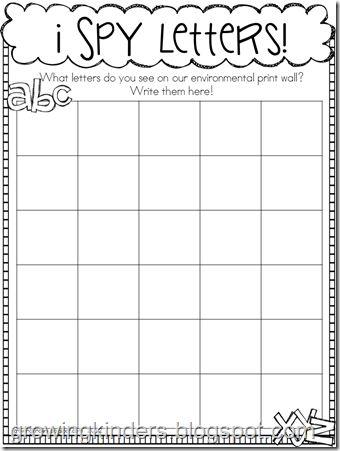 Write the room idea: Environmental Print, Word Wall, Letter Hunt Worksheet, Worksheets, Print Worksheet