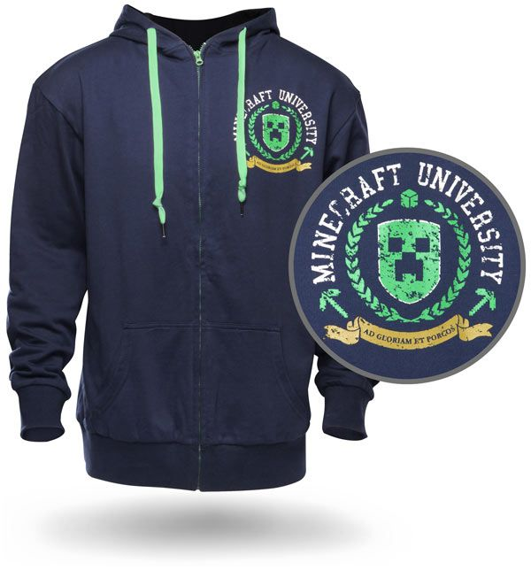 ThinkGeek :: Minecraft University Hoodie