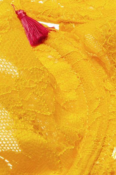 Elle Macpherson Body - Zest Stretch-lace Balconette Bra - Yellow - 32DD