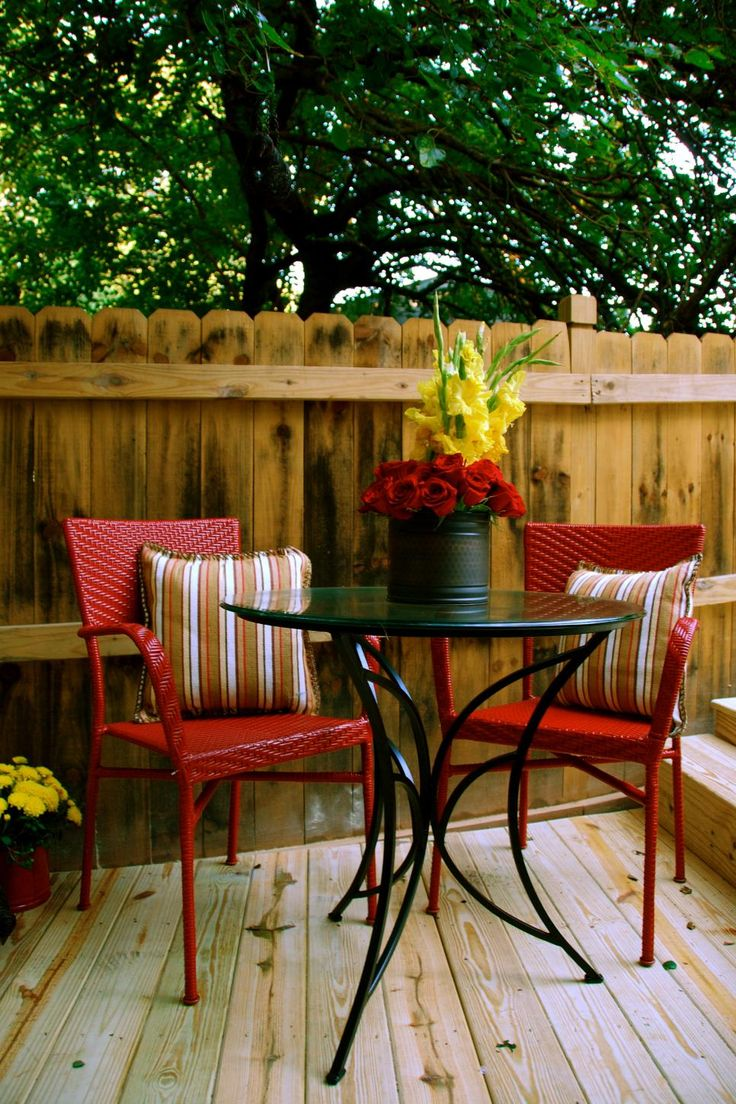 Outdoor Areas: Refresh Your Deck A nice outdoor deck can be a big selling feature, but an old one is a major liability. To give your outdoor space new life, first sand the wood. Cover it with a light-colored stain instead of paint to give it a rustic, grainy look. Furnish it for entertaining, and watch your open house turn into a party.