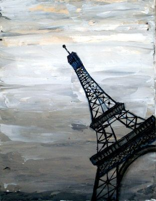Abstract Eiffel Tower Painting - Holly Anderson