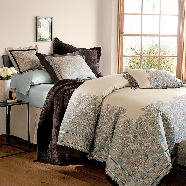 Classic Bedroom Appeal With Orlando Espresso Paisley Bedding Set, Paisley  Standard Pillow Sham, Paisley Standard Pillow Sham, And Pure Egyptian  Cotton ...