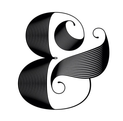 typographyPretty And Or, Design Inspiration, Graphics Design, Moire Ampersand, 1920 S Looks Ampersand