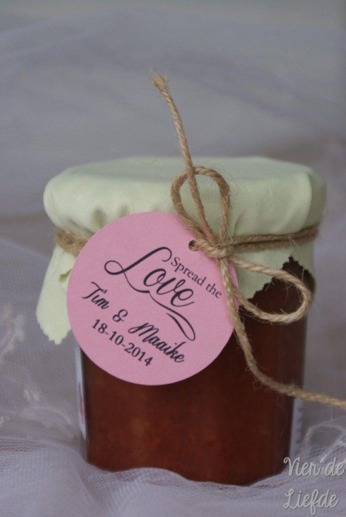 Spread the love label, te gebruiken voor de bedankjes van jouw bruiloft