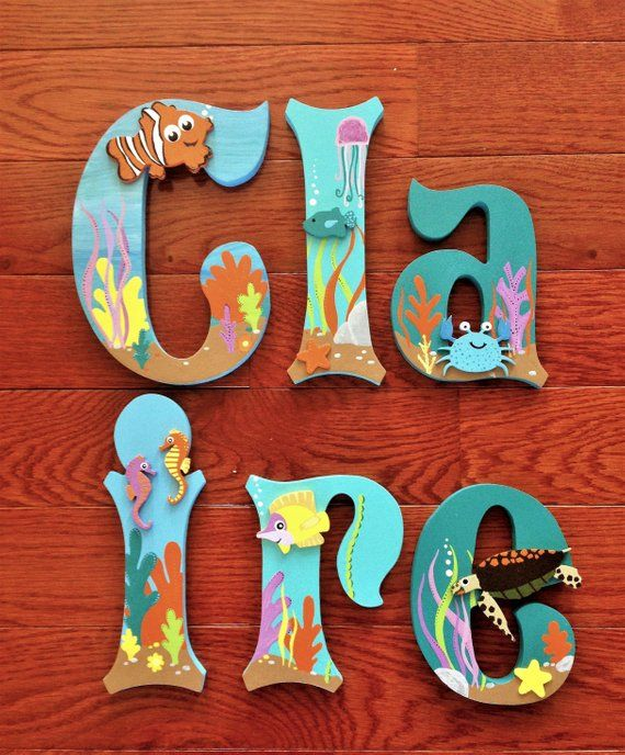 custom wood letters to match any disney finding nemo dory room wwwetsy