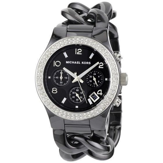 NEW MICHAEL KORS GUN METAL CHRONOGRAPH QUARTZ BLACK DIAL LADIES WATCH MK5388 #MichaelKors