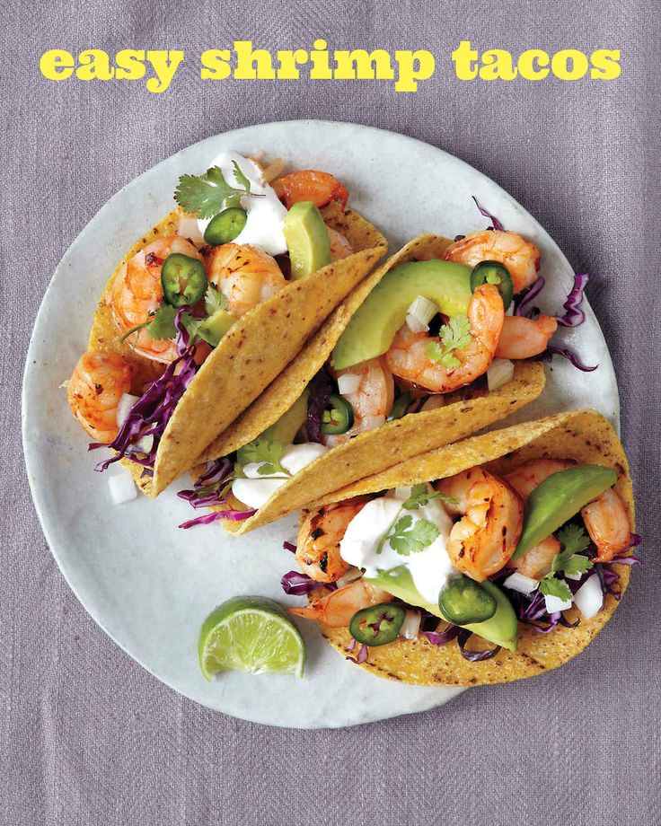 Turn on the broiler for #TacoTuesday! It toasts tortillas in mere seconds and turns out perfectly cooked chipotle shrimp in less than 10 minutes. All you have to do is assemble the garnishes in the meantime.