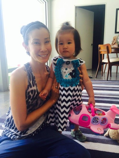 Lisa Ling and her daughter Jett