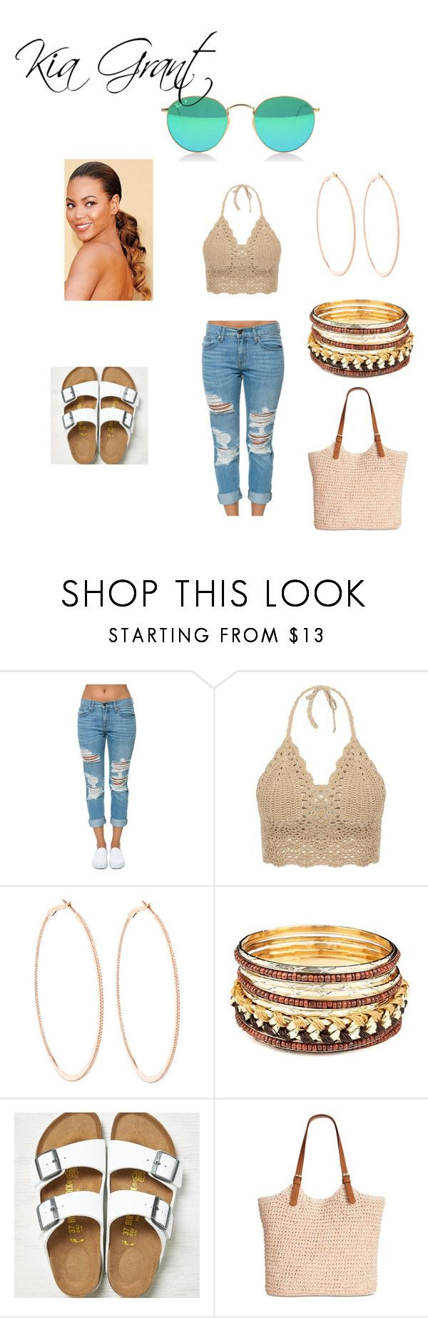 """""""You Could Use A Vacation...."""" by kiagrant on Polyvore featuring Pistola, Rosa de la Cruz, American Eagle Outfitters and Straw Studios"""