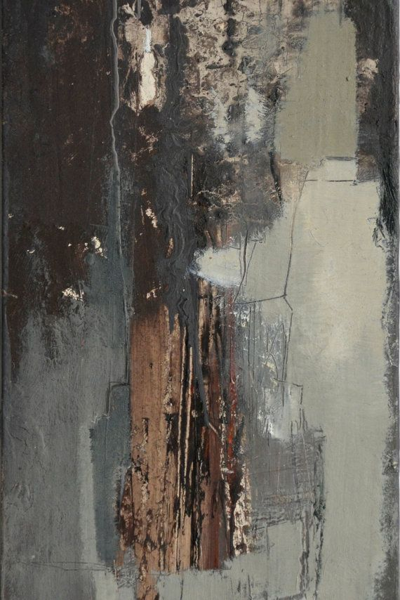 Abstract Painting, Oil on Panel 11.5 x 3.75 inches, Original Contemporary Modern Art, Home Decor
