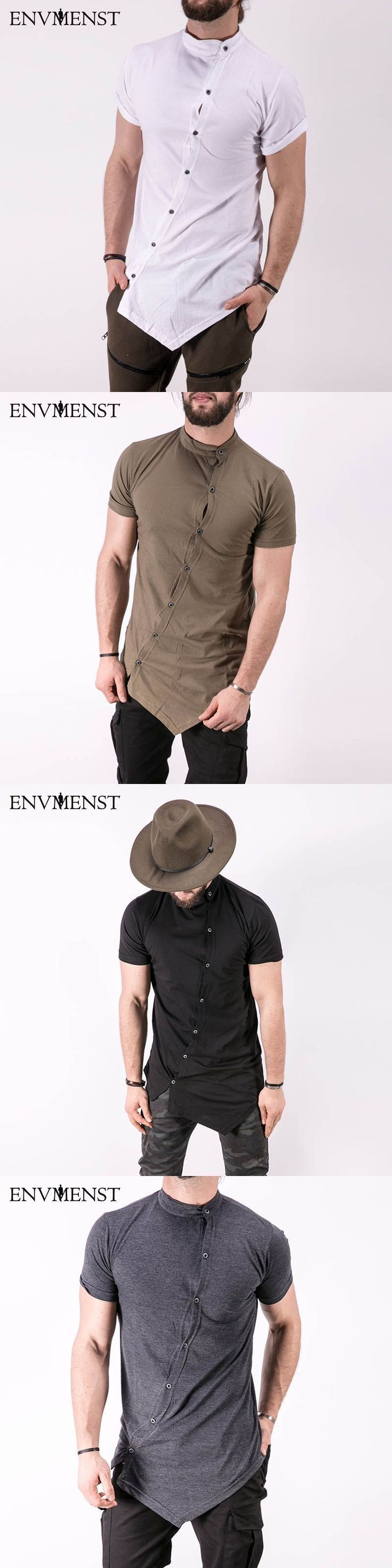 2017 Envmest Brand New Men's Assassin's Creed Street Stylish T-shirts For Men Oblique Button D Short Sleeve T-shirt Man Tee #menst-shirtsstreet #menshirts