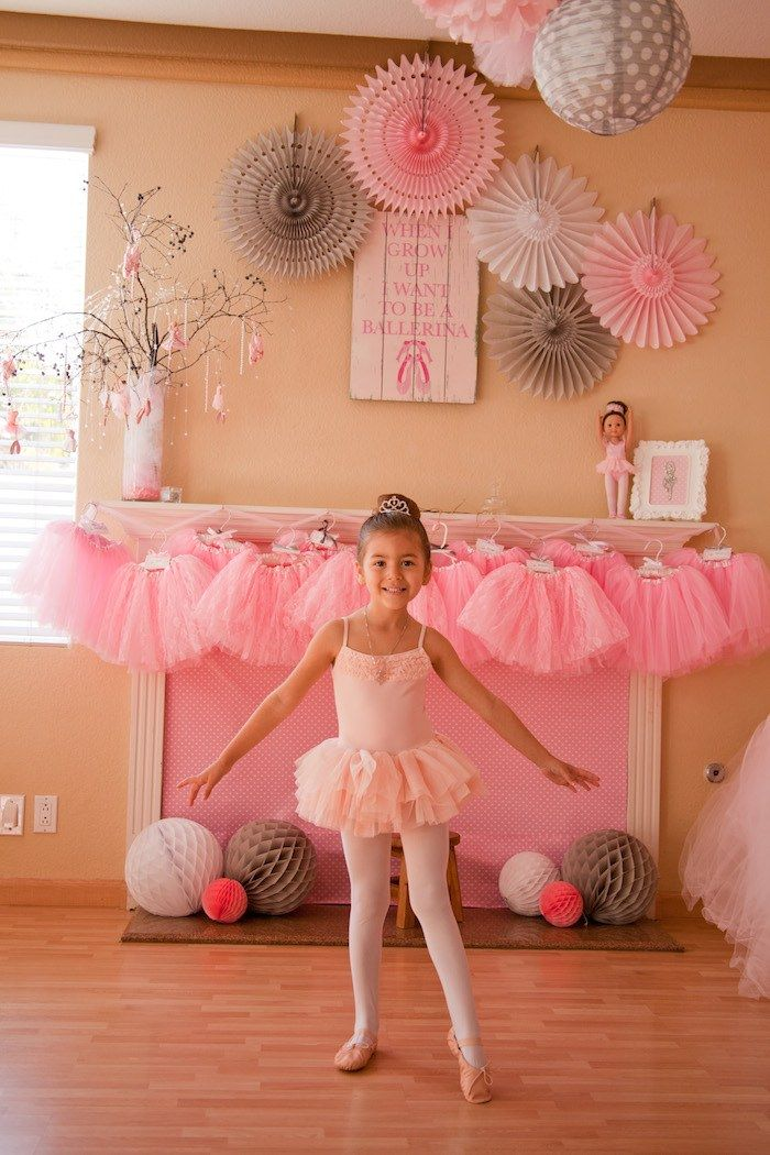 Ballerina Themed 5th Birthday Party with Lots of Really Cute Ideas via Kara's Party Ideas KarasPartyIdeas.com #ballerinaparty #balletparty #danceparty #balletpartyideas #partydecor (21)