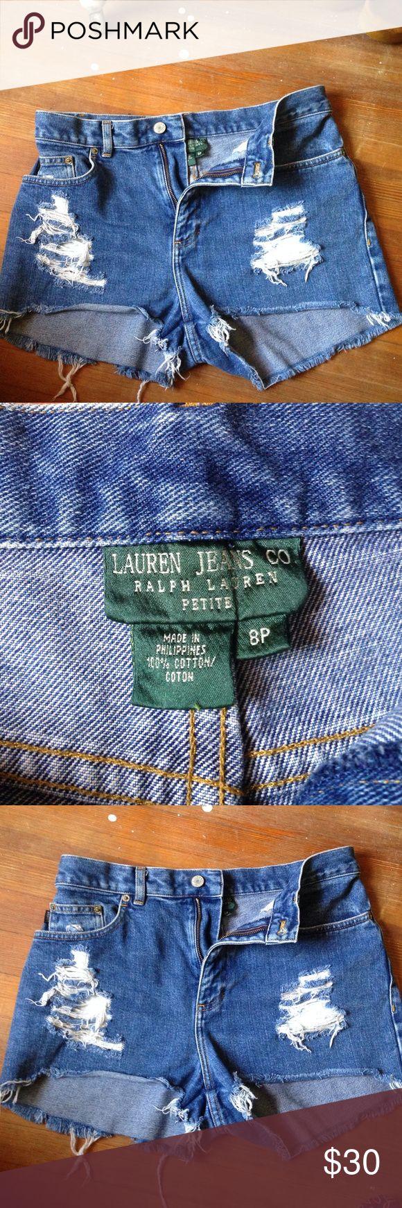 Ralph Lauren Jean shorts petite size 8P worn maybee a few times at most Ralph Lauren Shorts Jean Shorts