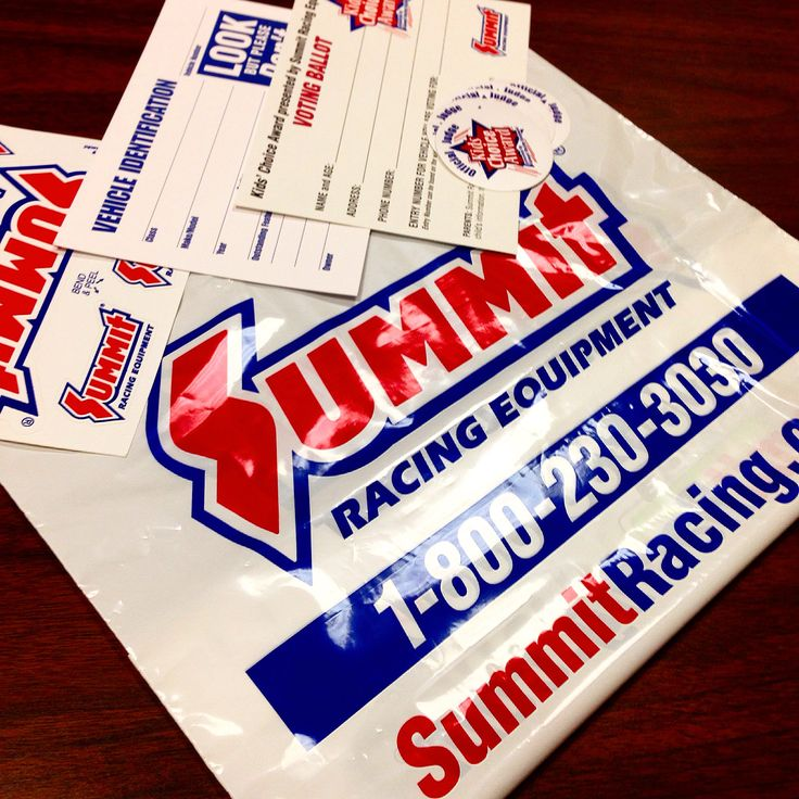 THANK YOU To Our Friends Over At Summit Racing Equipment For Sponsoring Event With A Massive Banner Goodie Bags Stickers And Vehicle ID Cards