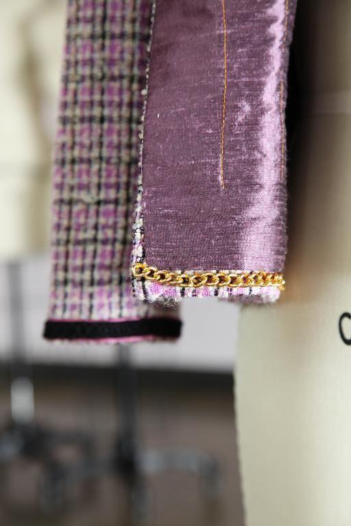 Chanel jacket, Close-up on Sewn Details of Jacket