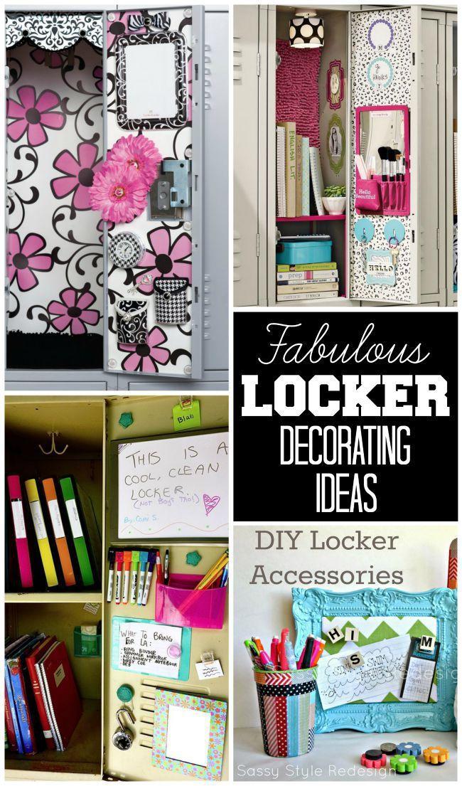 Tons of fabulous locker decorating ideas!