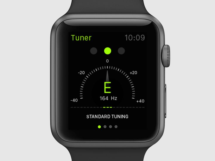 We've been exploring ideas for the Apple Watch lately. A lot of us play instruments, so a Tuner app is something we'd really love to have on our wrists.
