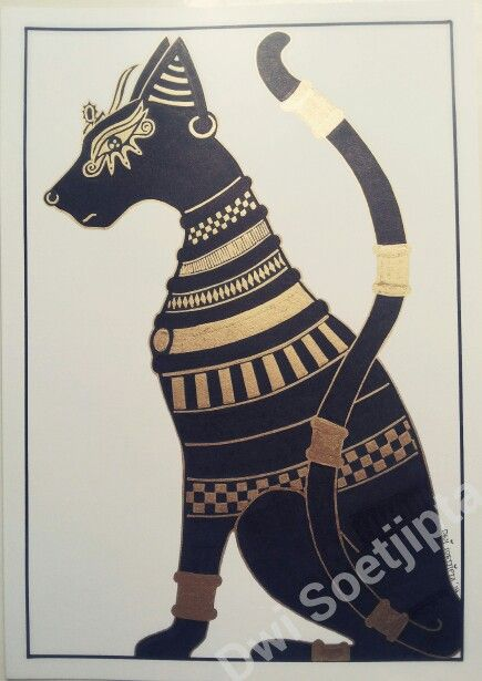 """Gold and black ink for """"Noble Cat"""""""