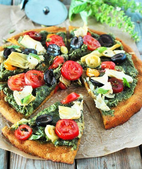 Mediterranean Pumpkin Pizza - Best Vegan Pizza Recipes